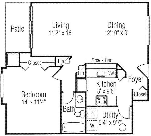 View Polo Club Apartments 1 Or 2 Bedroom Floor Plans
